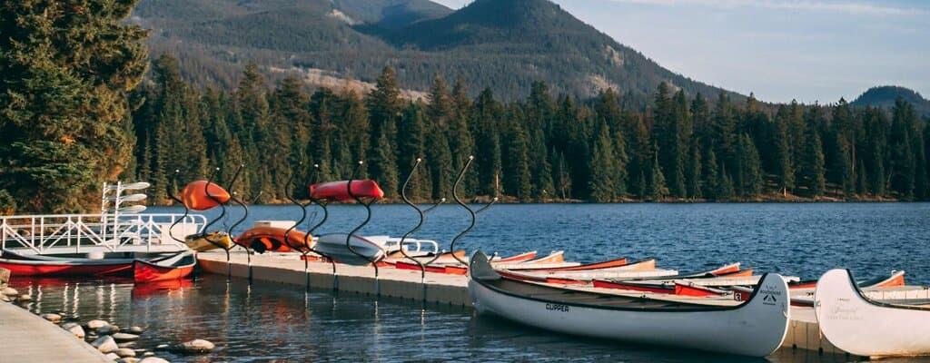 Alberta Immigrant Nominee Program - Boats on a lake in Jasper, Alberta.