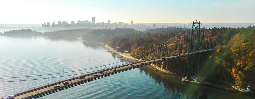 British Columbia Provincial Nominee Program. A bridge in Vancouver, Canada.