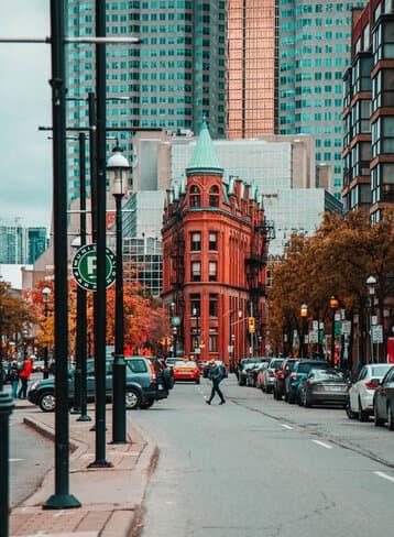 Flatiron building in Toronto Canada